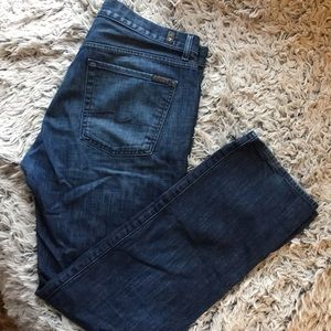 7 for all mankind standard for 36 waist 34 inseam
